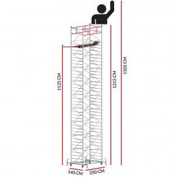 Andamio TITANIUM PRO (Altura de trabajo 13,25 m)