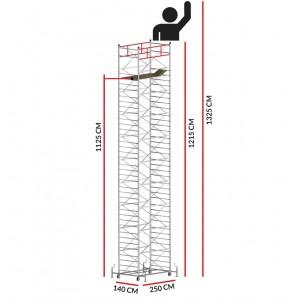 Scaffold Tower TITANIUM PRO (Working Height 13,25 m)