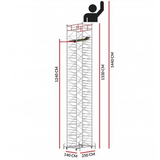 Andamio TITANIUM PRO (Altura de trabajo 14,40 m)