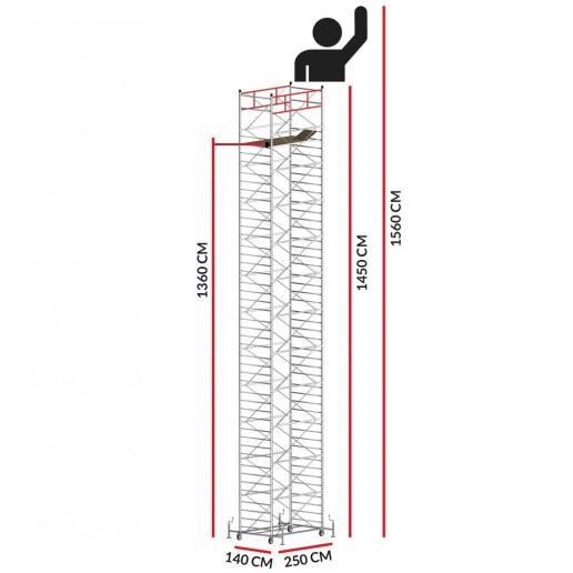Andamio TITANIUM PRO (Altura de trabajo 15,60 m)