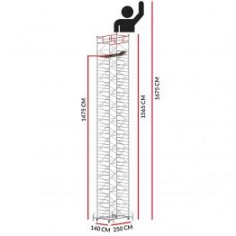 Andamio TITANIUM PRO (Altura de trabajo 16,75 m)