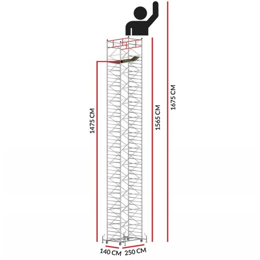 Scaffold Tower TITANIUM PRO (Working Height 16,75 m)