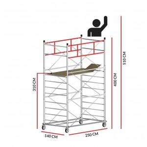 Échafaudage TITANIUM PRO (Hauteur de travail 5,10 m)