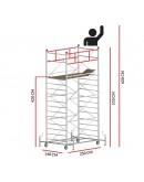 Scaffold Tower TITANIUM PRO (Working Height 6,20 m)