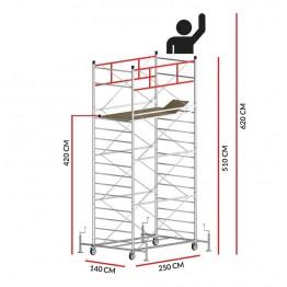 Andamio TITANIUM PRO (Altura de trabajo 6,20 m)