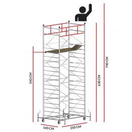 Andamio TITANIUM PRO (Altura de trabajo 7,40 m)