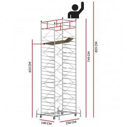 Andamio TITANIUM PRO (Altura de trabajo 8,55 m)