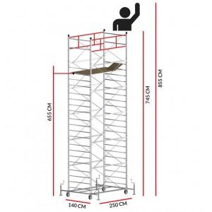 Échafaudage TITANIUM PRO (Hauteur de travail 8,55 m)
