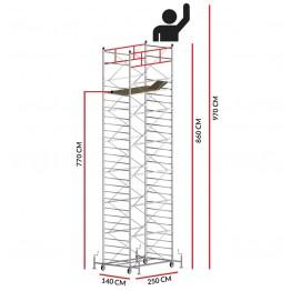 Andamio TITANIUM PRO (Altura de trabajo 9,70 m)