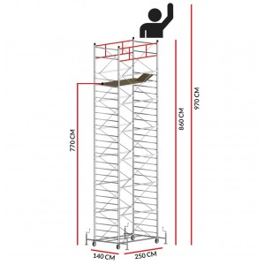 Scaffold Tower TITANIUM PRO (Working Height 9,70 m)