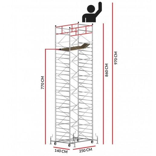 Rollgerüst TITANIUM PRO (Arbeitshöhe 9,70 m)