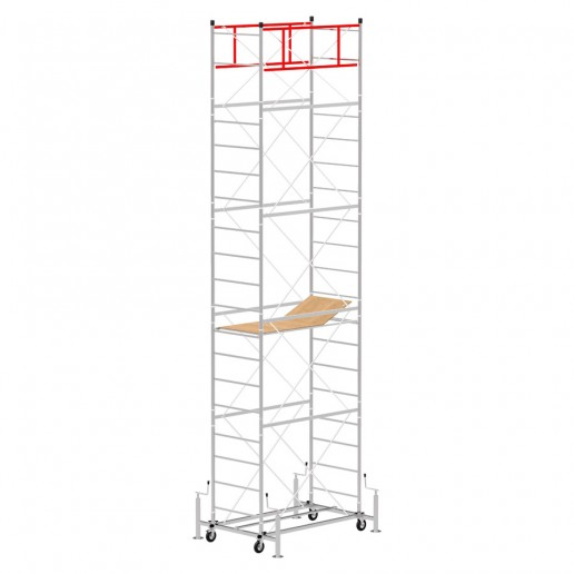Scaffold Tower M4 LUX with extractable base (Working Height 7,35 m)