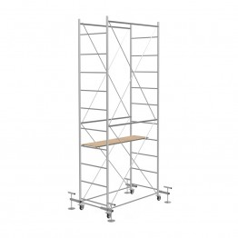Scaffold Tower FAST with 4 leveling jack (Working height 4,85 m)